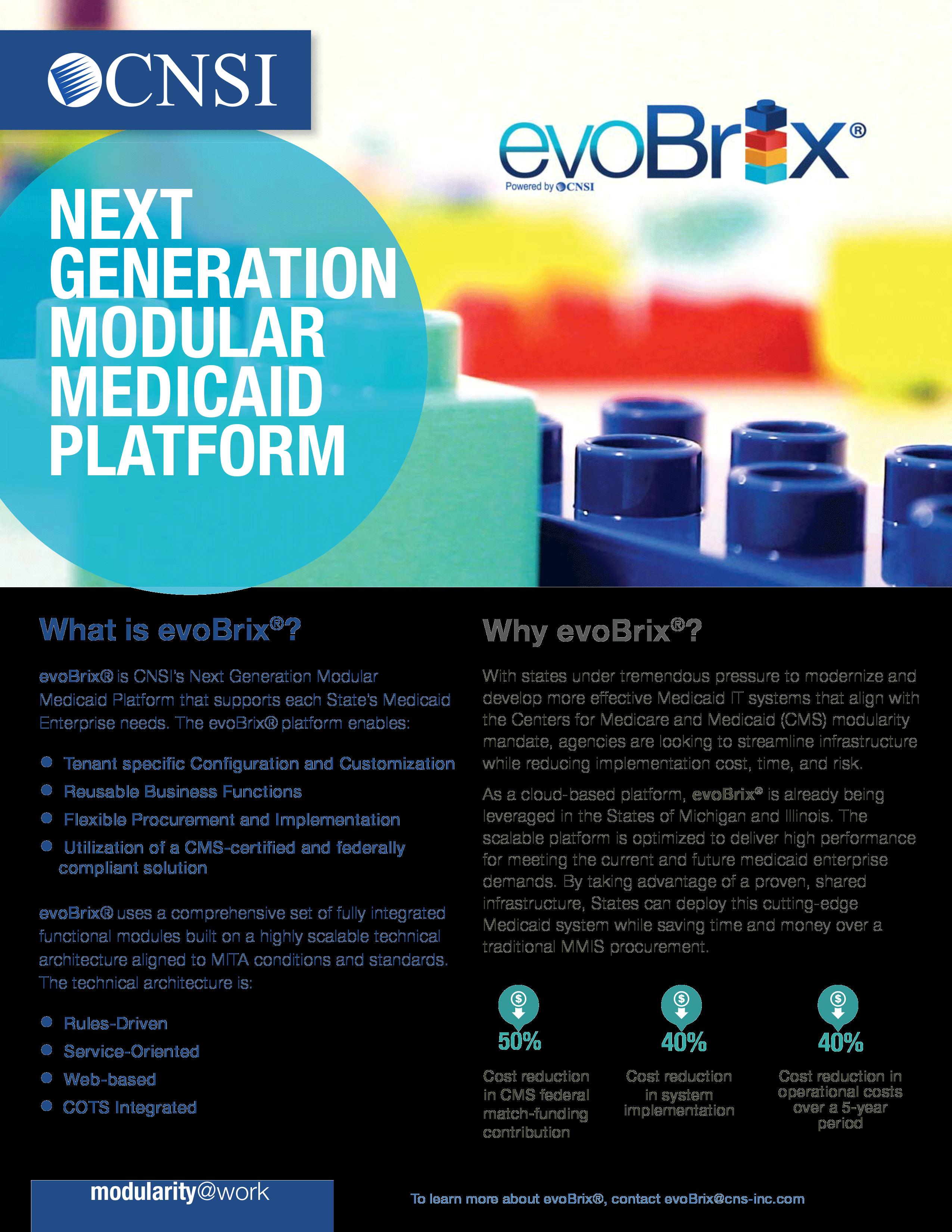 evoBrix®: Next Generation Modular Medicaid Platform
