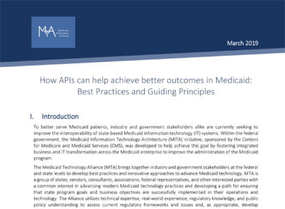 How APIs Can Help Achieve Better Outcomes in Medicaid